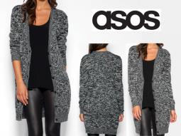 gilet zara femme noir et blanc long sweater jacket. Black Bedroom Furniture Sets. Home Design Ideas
